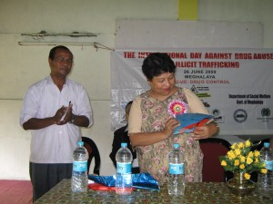 release of brochur on HIV/AIDS by Deputy Commisioner of the Ribhoi District